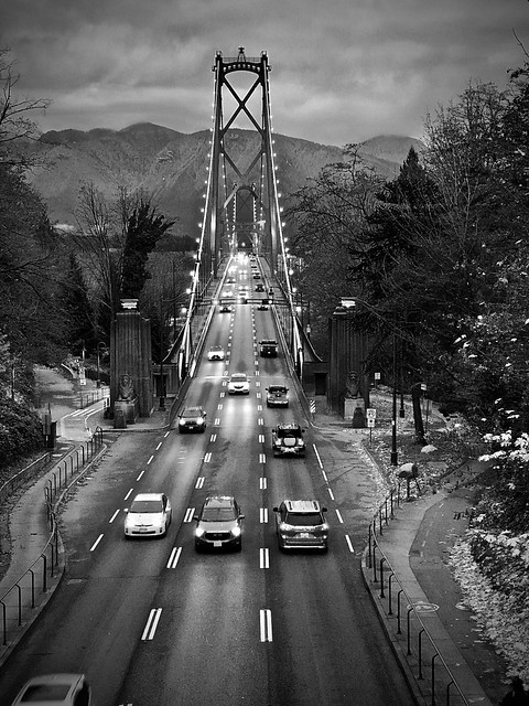 Lions Gate Bridge November Sunset