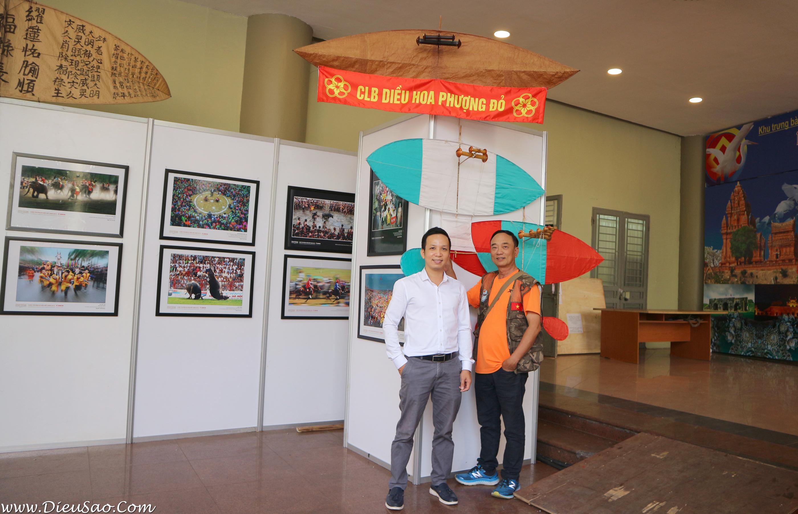 Hoang Phu va Hoang Van Diep tai Trien lam Canh dieu Di san