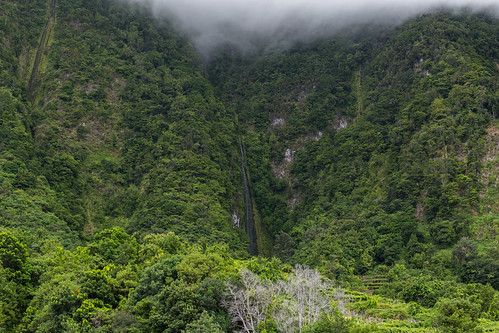 Unknow waterfall along the northern coast of Madeira