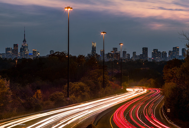 Don Valley Parking Lot looks like it moves.....if you take a long exposure