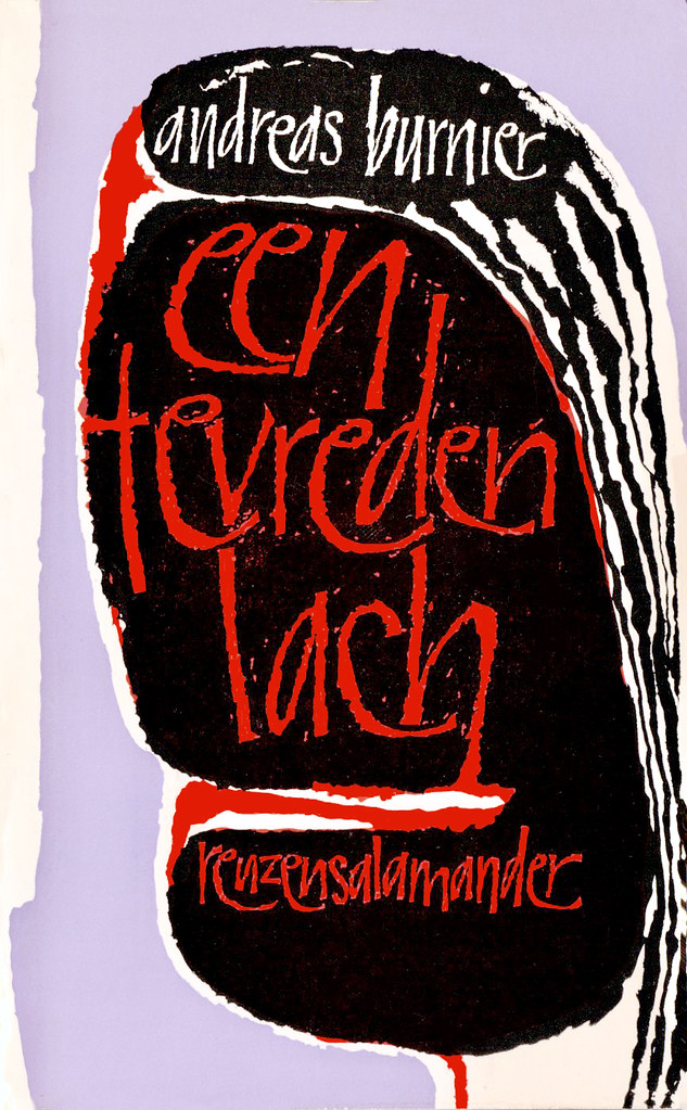 HAAS, Henri de. Cover design for Een tevreden lach (A Happy Smile), 1969.