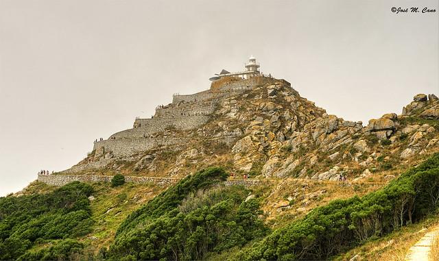 Subiendo al Faro de Cíes (Islas Cíes, Pontevedra)