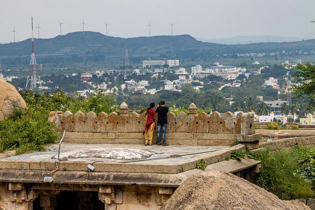 Enjoying the sights of Chitradurga