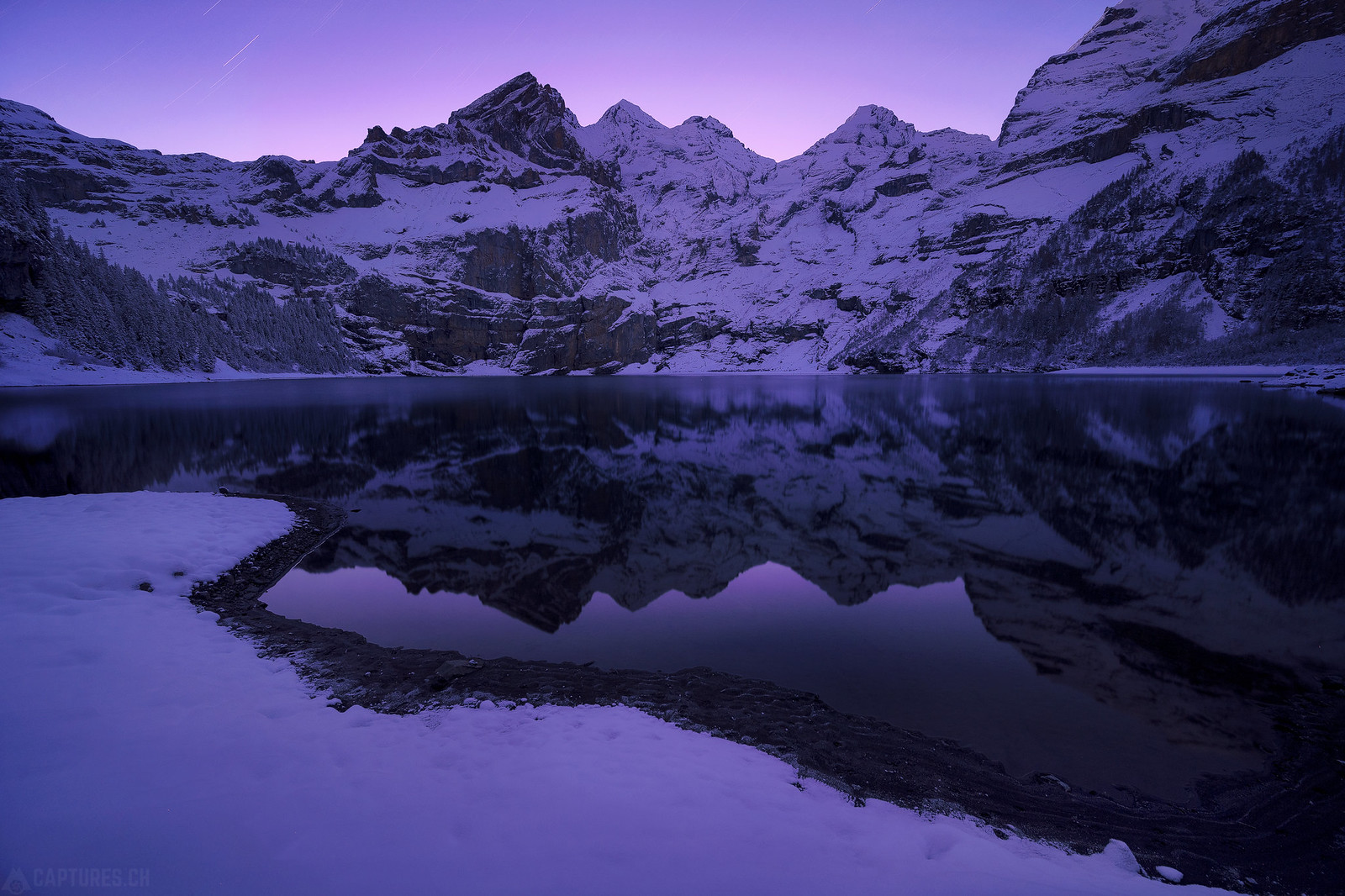 Night sky - Oeschinensee