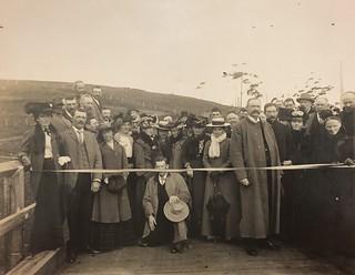 Opening of the Warrumyea Bridge over the Hopkins River at Greasy Jack's Ford, Purnim, near Warrnambool, Victoria by Joseph Jordan (Monday, 11 May, 1903)
