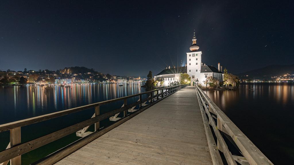 Schloss Ort in der Nacht...