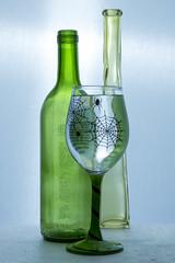 Glass vase bottle