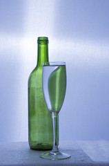 Bottle flute glass