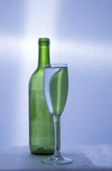 Bottle flute glass