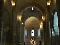 Choeur, église romane Saint Martin de Tours (XIe siècle), Frómista, Tierra de Campos, province de Palencia, Castille-León, Espagne.