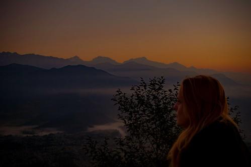 nepal sarankot pokhara himalayas annapurna annapurnarange manaslupokharawesternregionnepal sunrise