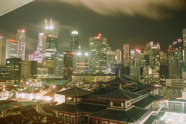 Night photography in Singapore