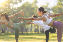 Yoga at park