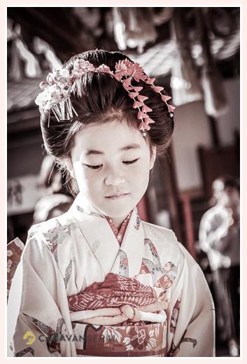 七五三 7才の女の子 ヘアスタイルは日本髪