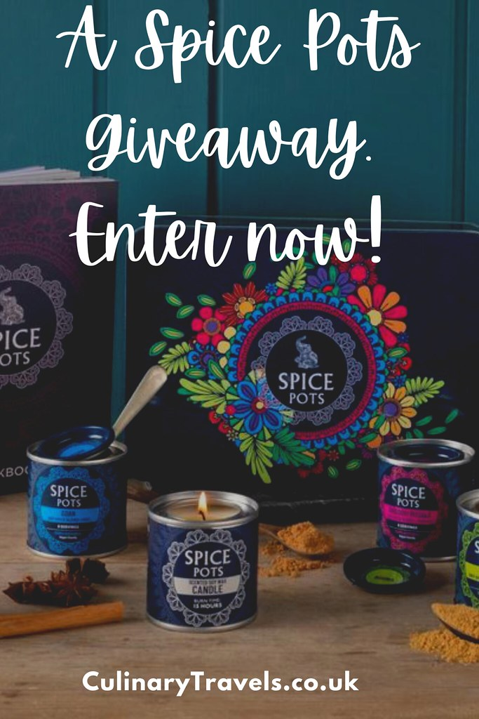 A Spice Pots Giveaway. Enter now to win a Luxury Indian Spice Tin set with Cookbook and Candle too! (UK entrants only)