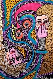 ציורים של אמנים ישראלים מירית בן נון ציירת עכשווית מודרנית חדשנית צבעונית