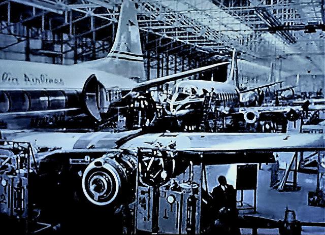 Building Vickers Viscount Aircraft