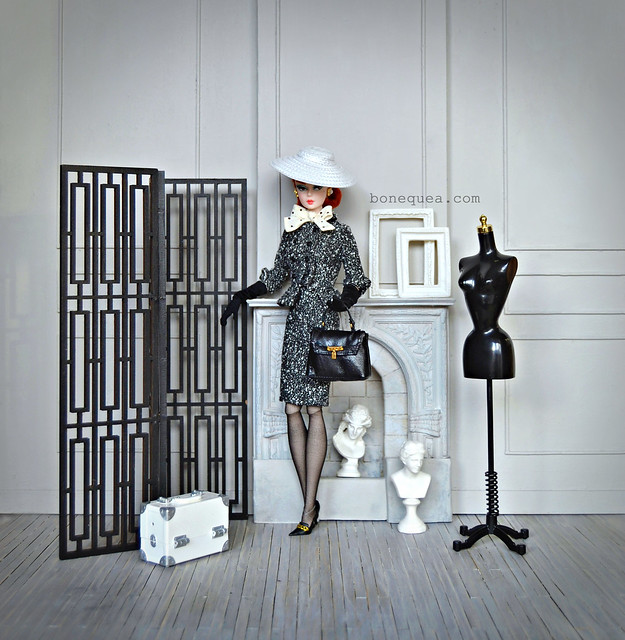 Black & White Tweed Suit Barbie