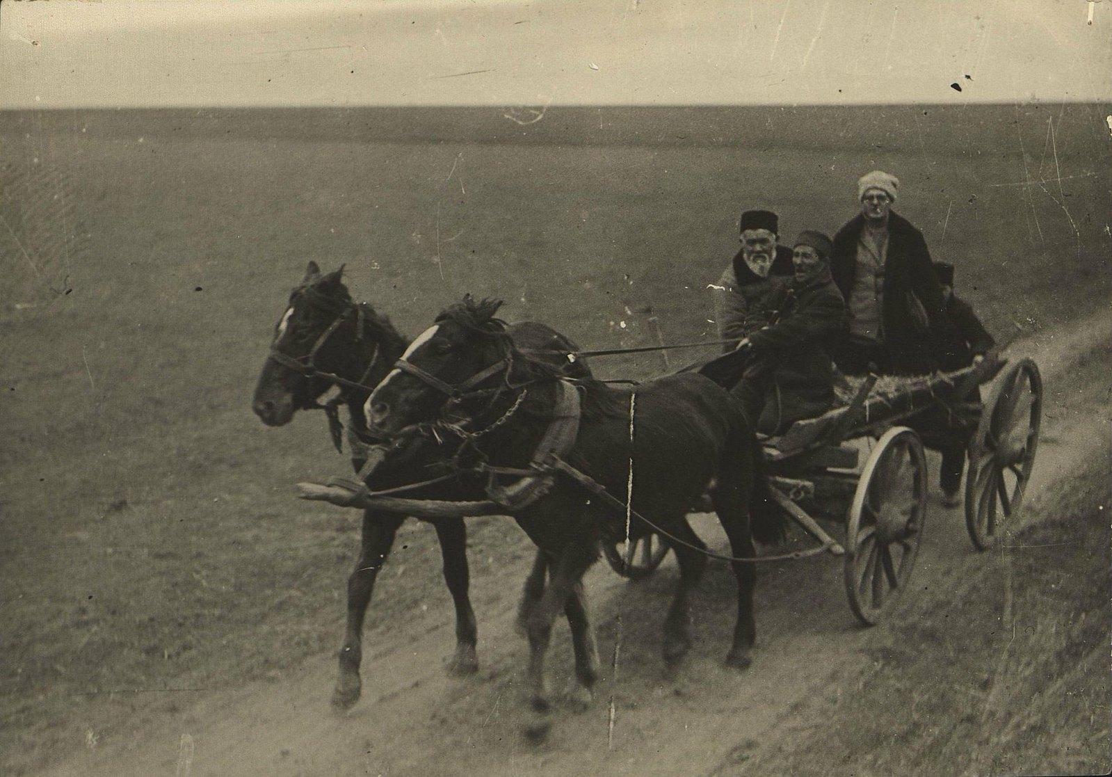 12. 1930. Везут арестованного кулака. Крым. Кучук-Кой