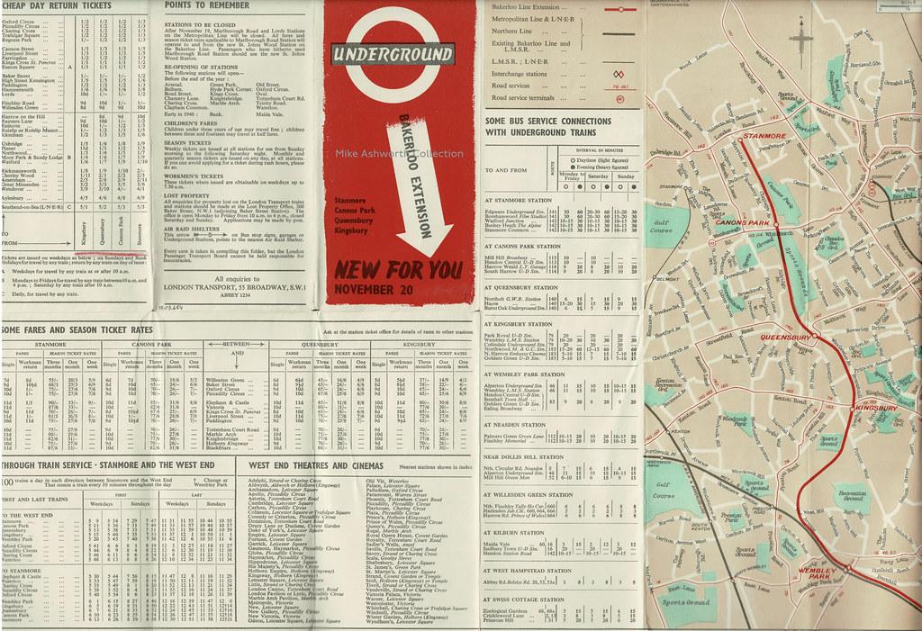 London Underground - Bakerloo Extension - new for you, November 20 1939 - map folder 2