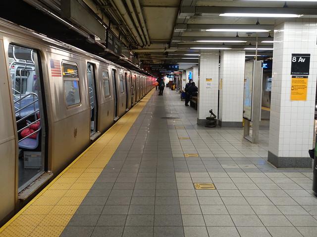 202010113 New York City subway station 'Eighth Avenue/ 14th Street'