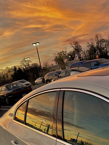 pikesville maryland parkinglot cars windows reflections lights sunsets iphone hss