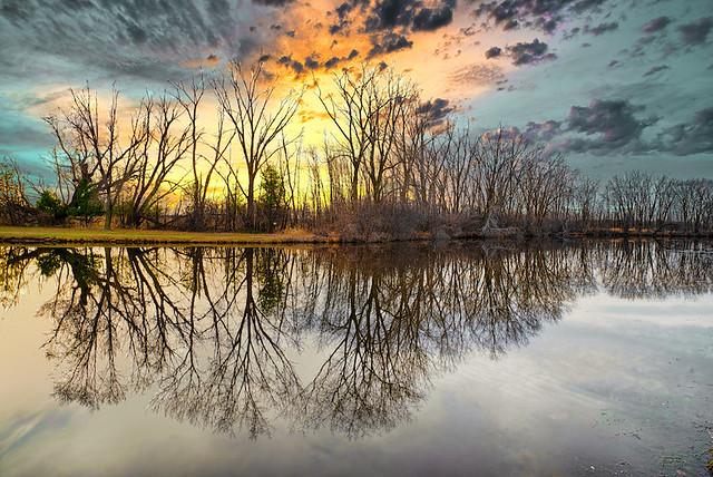 Sunset At Marble Park Lagoon