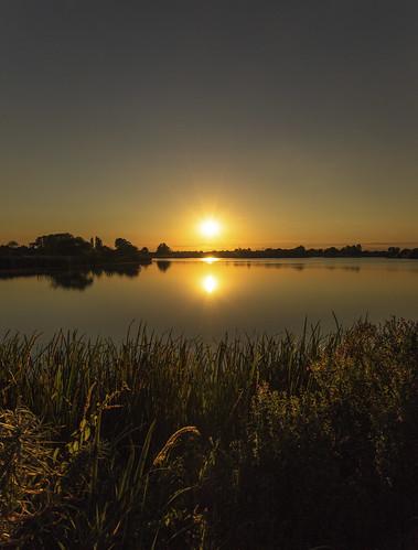canon6d landscape nature outdoors outside uk cambridgeshire sun sunset lake reflections