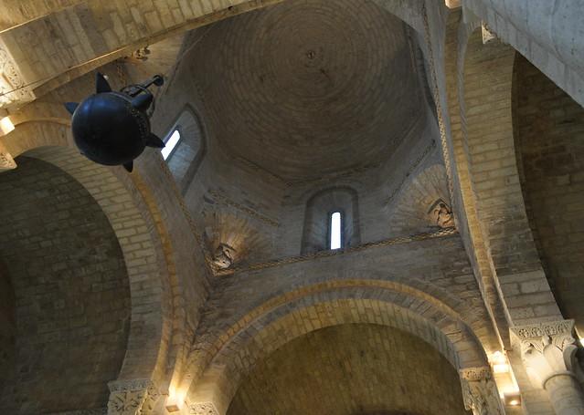 Transept, église romane Saint Martin de Tours (XIe siècle), Frómista, Tierra de Campos, province de Palencia, Castille-León, Espagne.