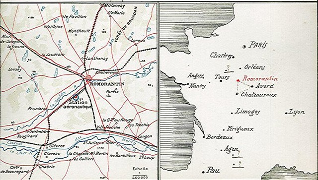 Carte vols Romorantin Avord Châteauroux