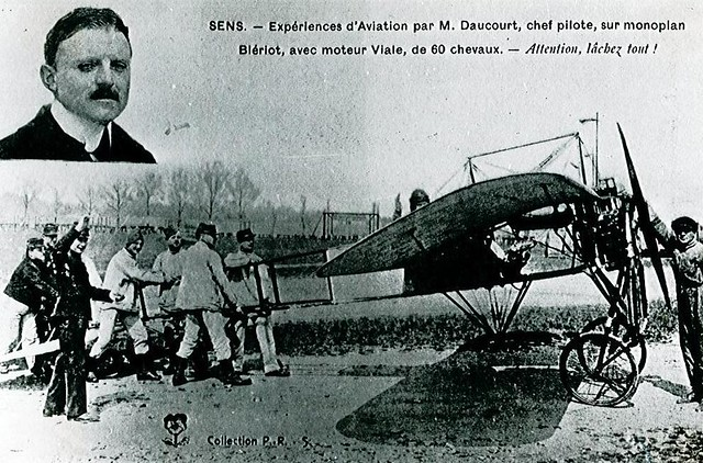 Daucourt chef-pilote monoplan Blériot Sens