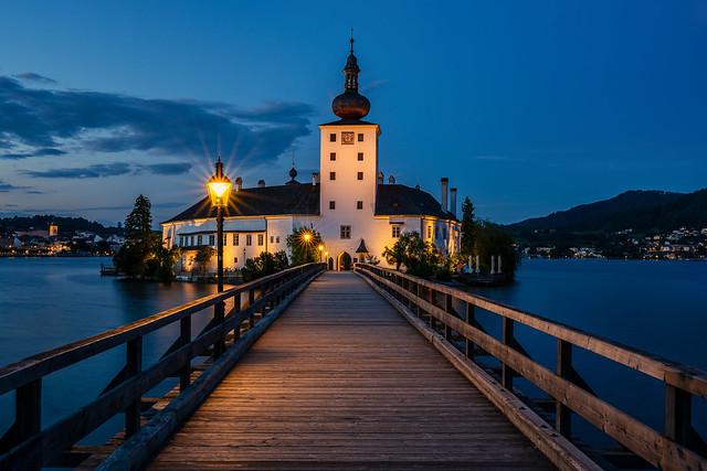 Das wunderbare Schloss Ort zur blauen Stunde