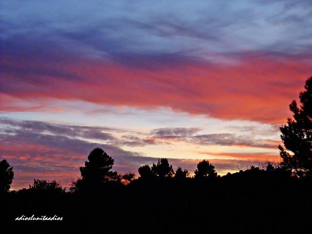 Puesta de sol  , nubes caprichosas 061