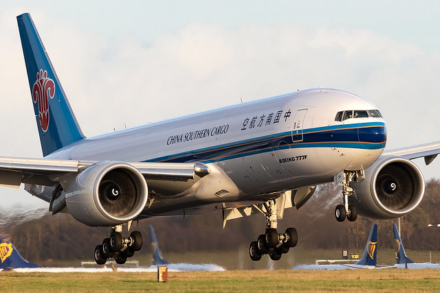 B-20EN China Southern Cargo Airlines B777F London Stansted Airport