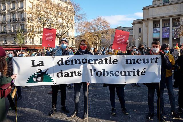 Manifestation Contre le Projet de loi de sécurité globale