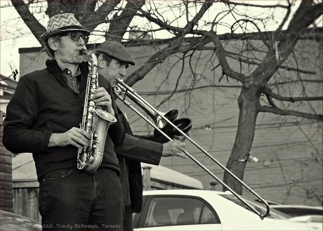 Richard Underhill, one of the more prominent sax players in the city. Nov 2020.