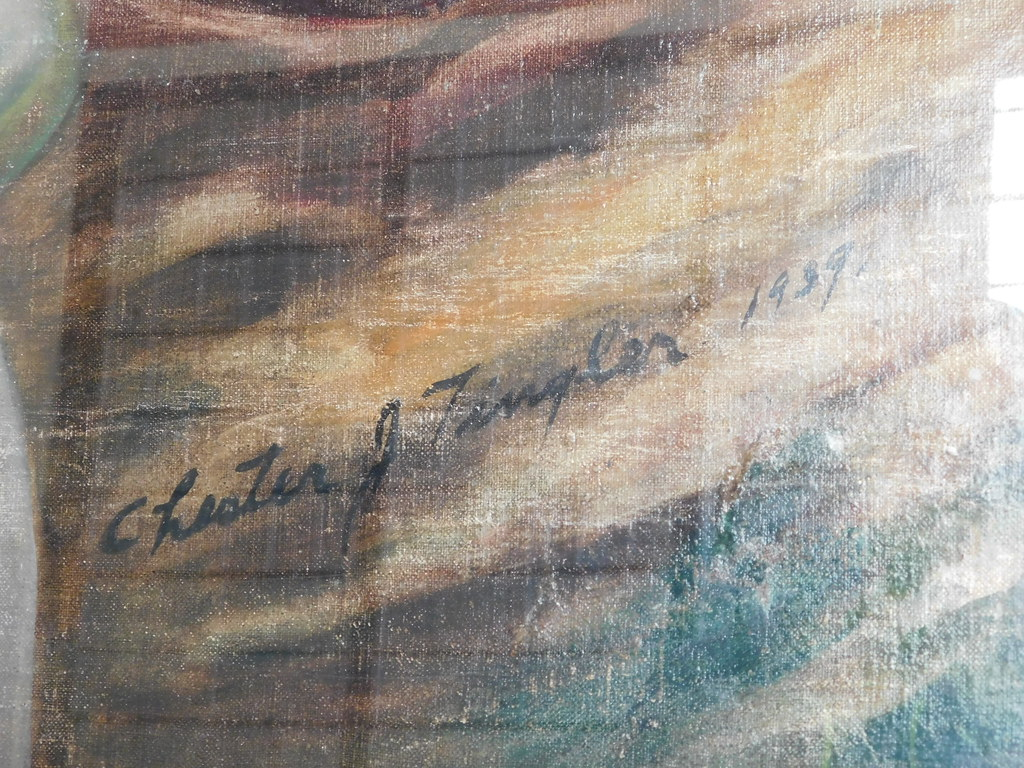 Sylvester Georgia Post Office Mural Artist Signature