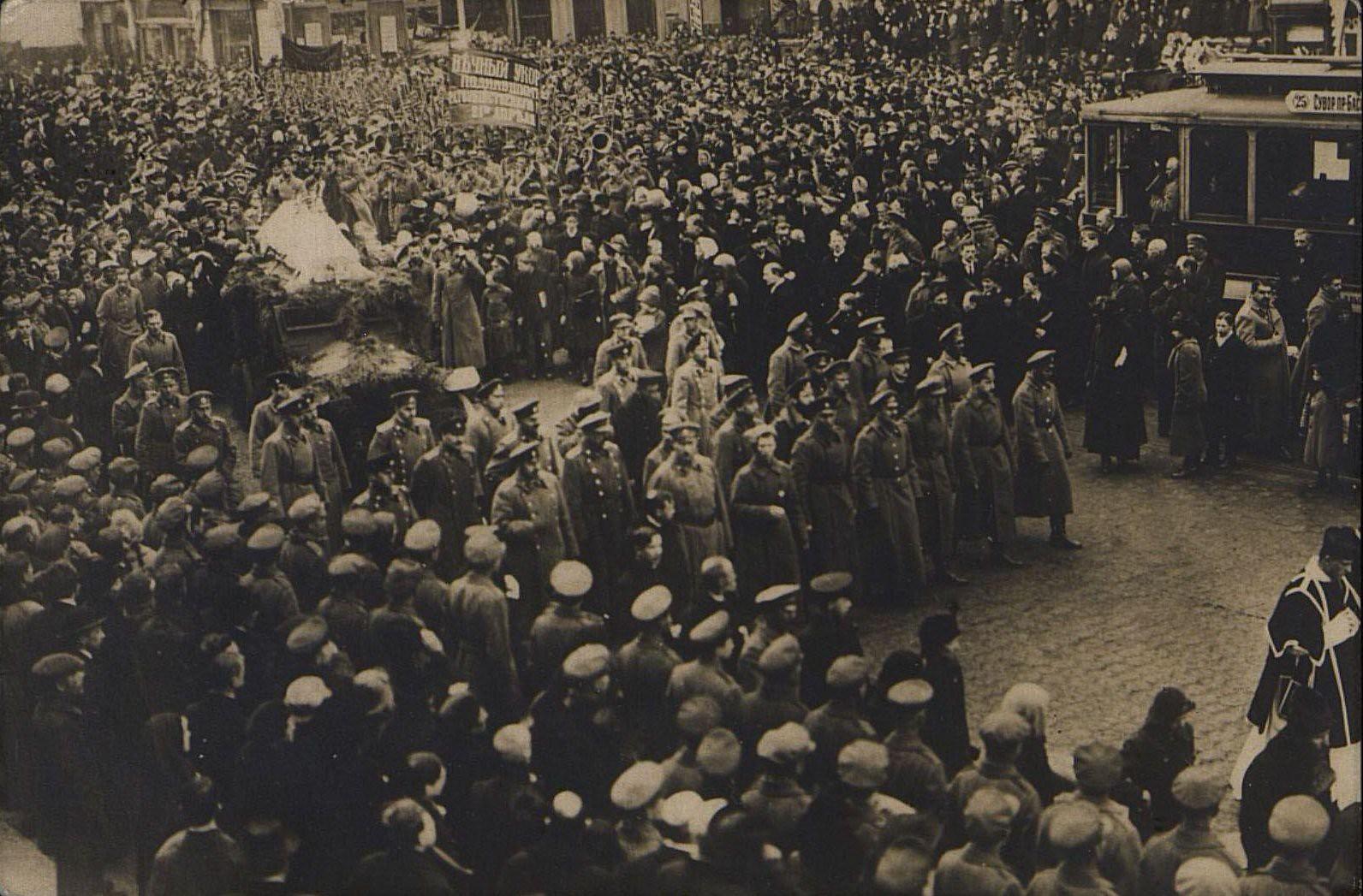 23 марта. Похороны жертв революции. Петроград