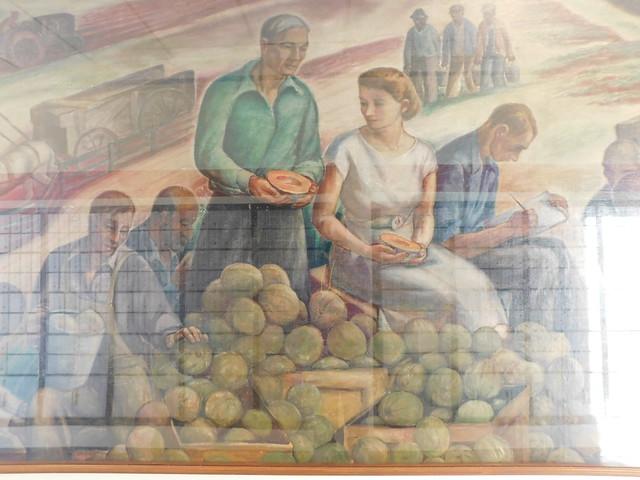 Sylvester Georgia Post Office Mural Detail