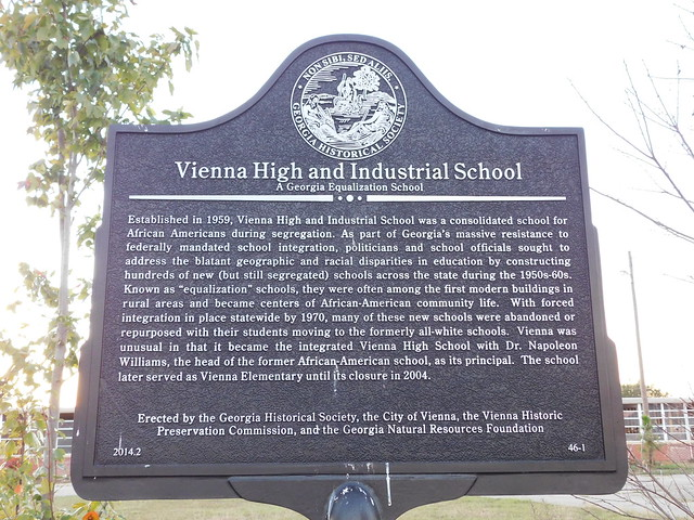 Vienna High &  Industrial School Historic Marker
