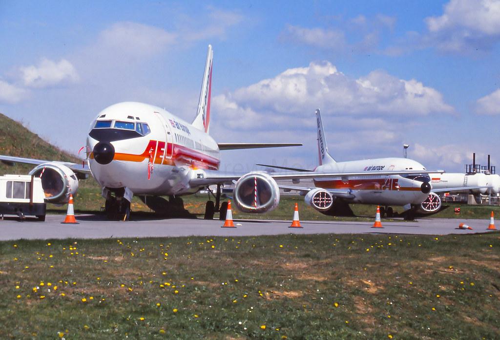 Air Europe Boeing 737-400s G-BPKC and G-BNPB