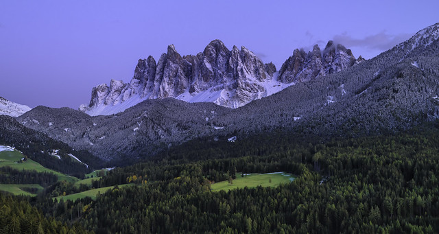 Dolomites...Vilnöss at dusk...