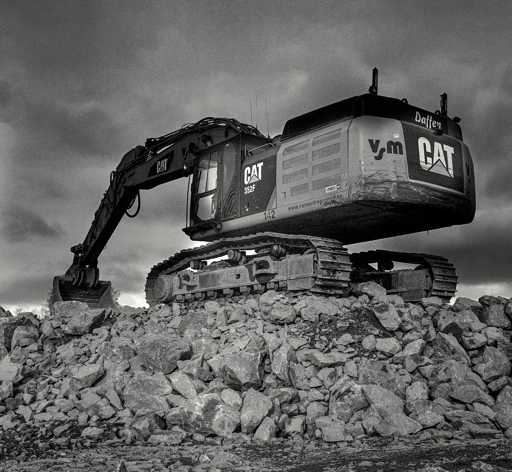 Analog photo: Caterpillar