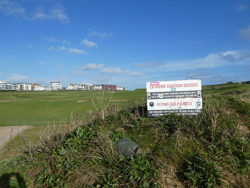 Footpath across Newquay Golf Course