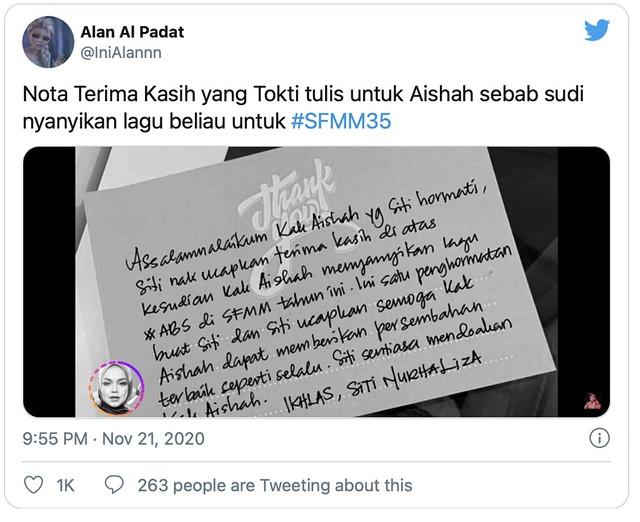 Cantik & Sekata Tulisan Tangan di Kad Ucapan, Tak Sangka Ia Milik Siti Nurhaliza