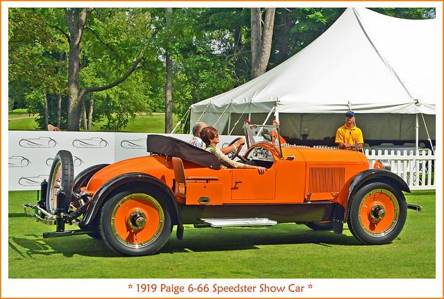 1919 Paige 6-66 Speedster Show Car