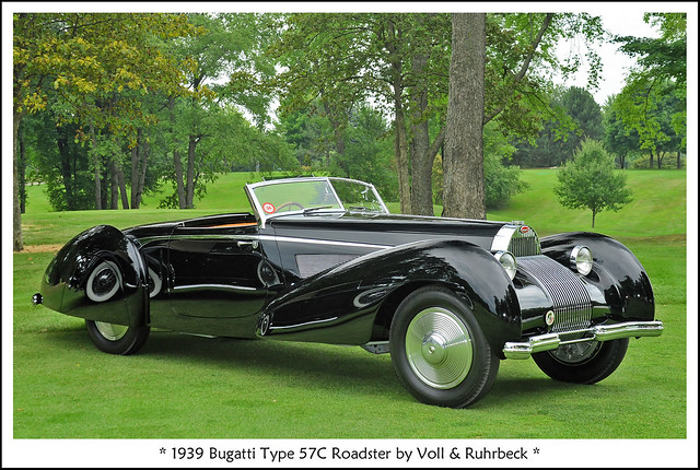 1939 Bugatti Type 57C Roadster by Voll & Ruhrbeck