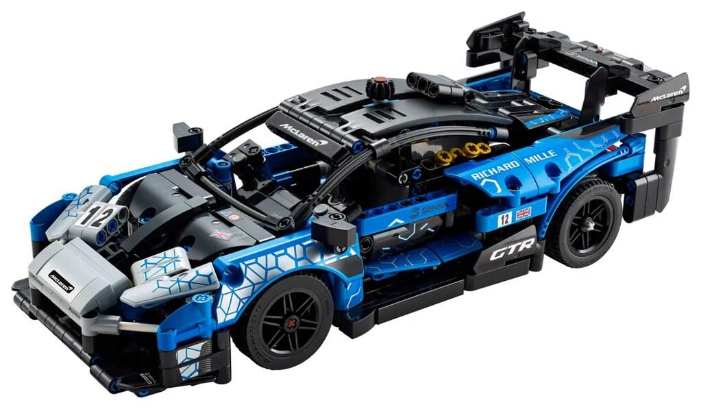 LEGO 42123 科技系列【麥拉倫 Senna GTR】賽道怪物的誇張尾翼、上掀式車門再現!