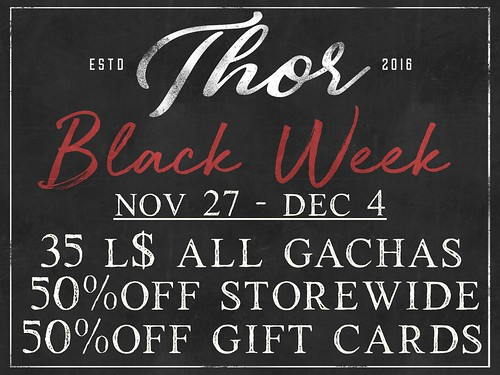 ..::THOR::.. Black Week - November 27 / December 4
