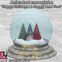 Snowglobe 'Happy Holidays & Happy New Year'